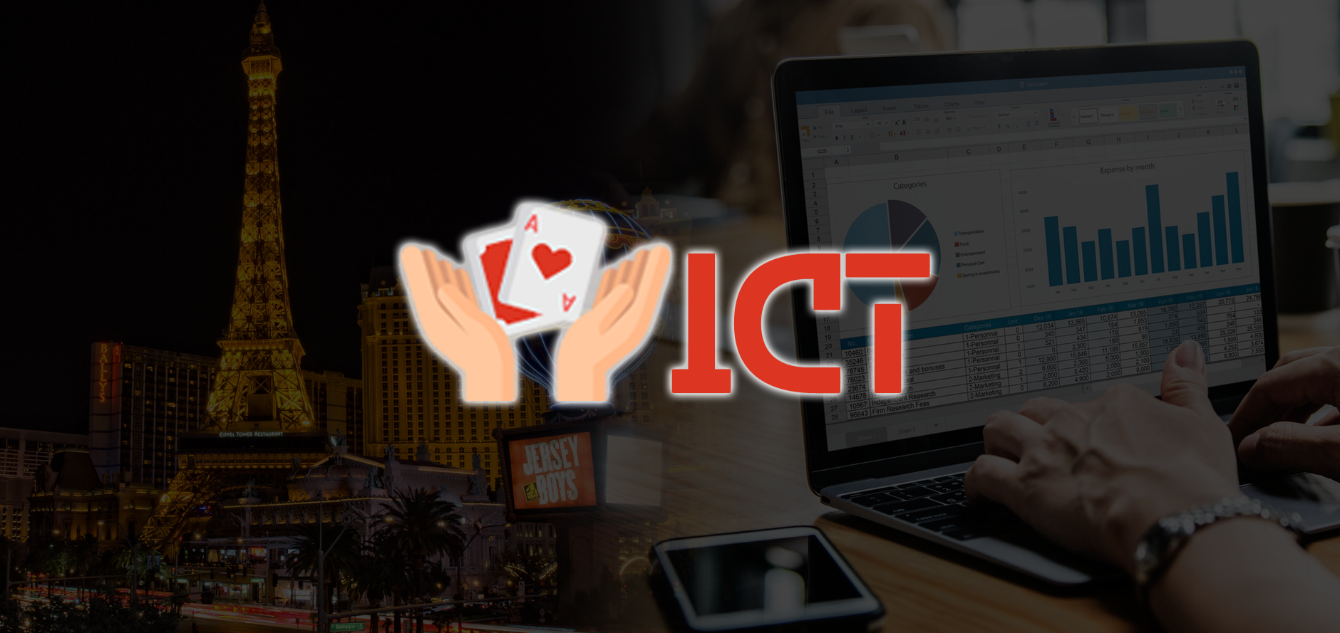 AboutUs ICTlogo with casino and accounting background - About